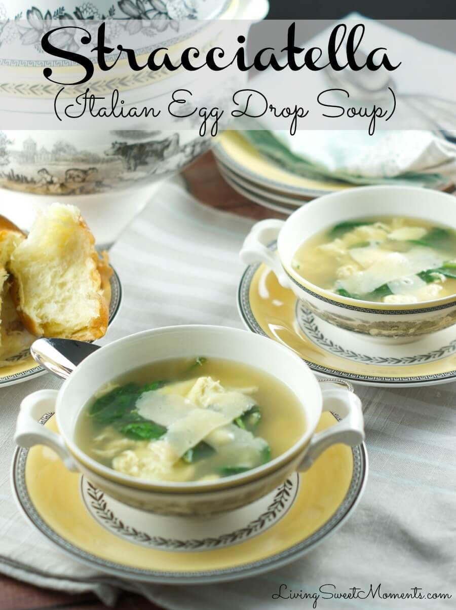 La Stracciatella Soup (Italian Egg Drop Soup) - Living Sweet Moments